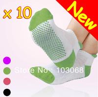 New Yoga Socks Sock Gym Exercise Non Slip Massage Multicolor 10 Pairs/Lot