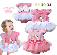 2013 new arrival swan pattern wings modeling rompers bodysuit clothes baby jumpsuit 6#13050707
