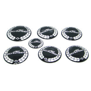 Freeshipping 7PCS AC replacement car emblem, bonnet badege , AC logo wheel center caps, steering wheel sticker and Rear Emblem(China (Mainland))