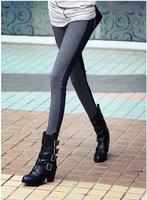 2013 Fashion Women's AB Side Denim leggingsJean Look skinny pocket stretch pencil pants Free Shipping