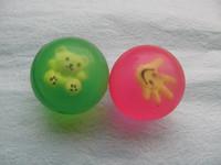 4cm bouncing balls transparent cartoon elastic ball bouncing ball bouncing ball rubber ball crystal ball toy