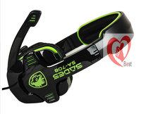 Free shipping High Quality SA708 Gaming Headset Stereo Headphone Powerful Bass Earphone with Mic