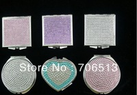 2013 Wholesale fashion Free shipping(20pcs/lot) 100% handmade jeweled cosmetic mirror