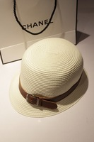 Women's straw braid hat beige sunbonnet cadet cap summer bucket hats