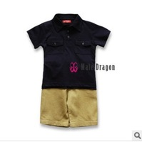 Good Quality!summer t-shirt +casual shorts kids boys sports sets children's summer wear
