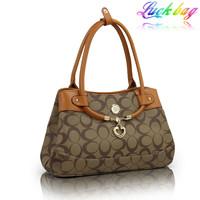 Free shipping Bags 2013 fashion print one shoulder women bag women's handbag heart hangings