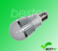 Free shipping 6W  voltage 100~240V/AC  high quality LED light sensor led bulb,automatically turn on or off