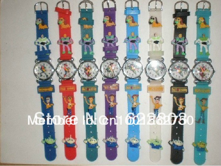 100pcs/lot Free Shipping Wholesales NEW Cartoon Toy Story Children Watch Good Gift kids watch(China (Mainland))