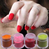 Trophonema nail art velvet finger 10g large capacity canned 12