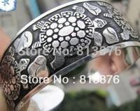 New Tibetan Tibet Silver Totem Bangle Cuff Bracelet X3