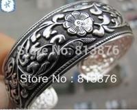 New Tibetan Tibet Silver Totem Bangle Cuff Bracelet Y123