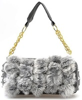 Real Rabbit Fur Handbag Totes Lady Bag  New  Wholesale / Retail B1480