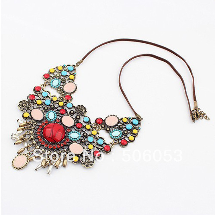 Min.order is $10,N308 national wind jewelry wholesale fashion exquisite wild pearl tassels retro Europe and America statement ne(China (Mainland))