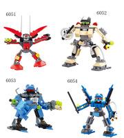 1pc Retail 3D Jigsaw Puzzle Robot Deformation Children Plastic DIY Assemble Building Block Toys Set Configures Brilliant Toy