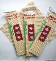 Free Shipping Brand New 6PC/Lot  Hand Roll Japanese Sushi Rolling Making Makisu Bamboo Mat Cooking Tools Kitchenware 24*24CM