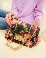 2013 vintage oil painting flower lock bag chain mini bag messenger bag small bags