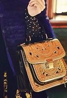 Free shipping Bags aimali vintage gold cutout carved vintage women's cross-body messenger bag handbag