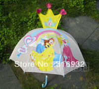 Arrival, pink princess Children / kid umbrella, recommended! Free shipping