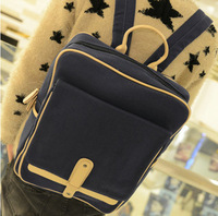 2013 canvas backpack student backpack unisex bag male female lovers school bag casual bag