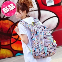 Harajuku doll mm backpack bag female student school bag computer