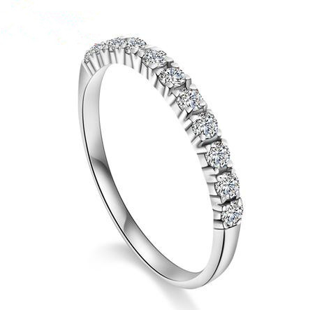 Free shipping BYJ0067 2013 new arrival romantic forever love super shiny zircon & 925 sterling silver ladies`finger rings(China (Mainland))