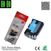 1pc/lot Camcorder Li-ion Batteries LP-E6 LP E6 LPE6 Batteries For Canon 6D 5D 5D 7D 60D Free shipping