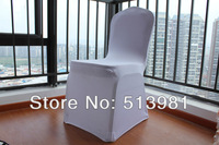 free shipping sample white spandex chair cover High quality lycra chair cover for wedding or party