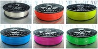 3D printer ABS/PLA filament with spool,1 kg/3mm Transparent  for MakerBot/RepRap/UP.environmental-friendly!