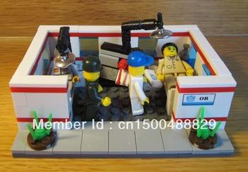 Fee shipping,Legao type building block,DIY educational jigsaw toys,enlighten brick toy,Medical set ,christmas gift 27165