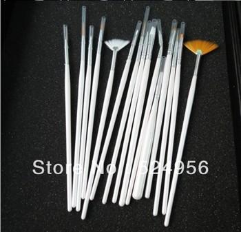 2013 Free shipping (15pcs/set)  Nail Art Brush Set Design Painting Pen Polish Brush Set Drill point pen