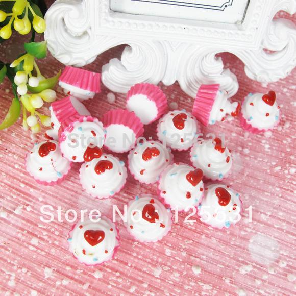 Free shipping!Min. order 15 USD+ No MOQ kawaii flatback resin food cabochon decoration Size: 15*12mm(China (Mainland))