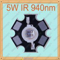 Freeshipping!5W Infrared IR 940NM High Power LED Bead Emitter DC1.4-1.7V 1400mA w/20mm Star Platine Base