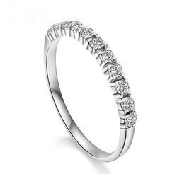 Free shipping 2013 new arrival super shiny zircon & 925 sterling silver & platinum plated female finger rings jewelry 1pcs/lot(China (Mainland))