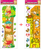 ALWAYS FOREVER-removable pvc height chart cartoon wall sticker, kids room wall decal 75-140cm height free shipping!