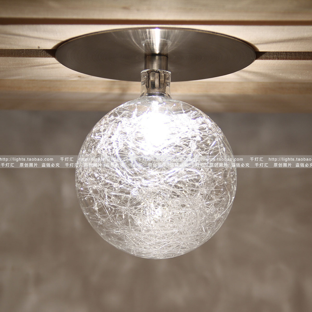 free shipping moder glass shade ceiling lamp fans ball glass lamp bedroom lamp study Lamps & Lighting Fixtures(China (Mainland))