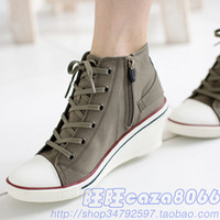 free shipping Women's shoes spring shoes star wedges canvas shoes casual shoes hot-selling sr13