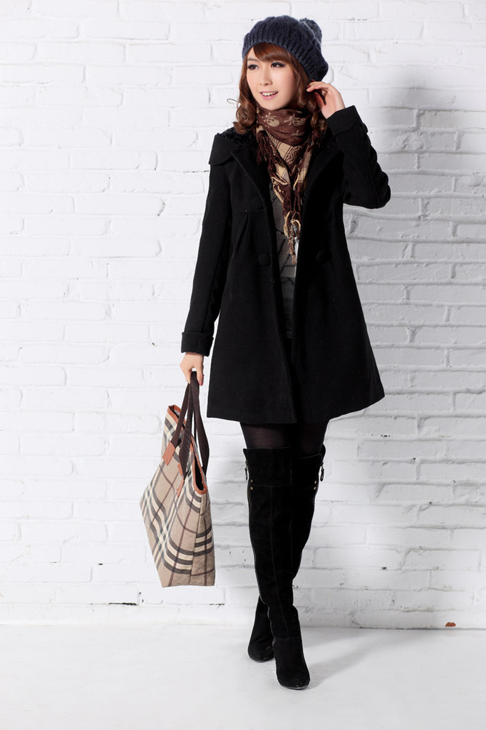 Plus cotton) 12 big release at the end of the year [price] women woolen cotton coat jacket thick circle of velvet autumn and win(China (Mainland))