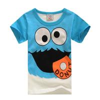 Hippo short-sleeve T-shirt 2014 summer children's clothing child baby male female children's t-shirt t-shirts