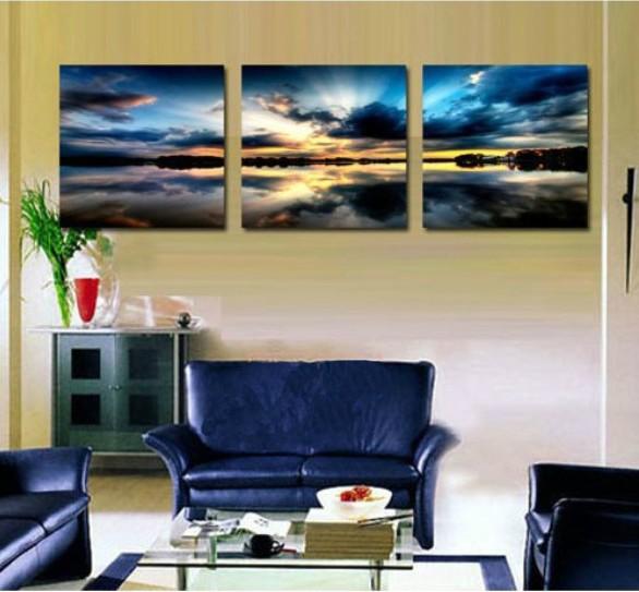 3 panel moderne muur schilderen wandpaneel boom decoratie huis kunstwerk beeld verf moderne - Verf modern muur ...