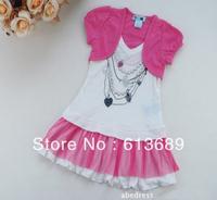 2PCS/lot&Free Shipping!2013 girls summer dress,the dress of the girl,dress girl princess baby girl summer dress