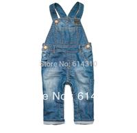 Free shipping spring child bib pants dual male female child denim children's clothing pants