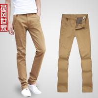 2012 men's clothing slim men's male straight pants trousers male casual pants