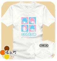 Cnblue will serve t-shirt men's clothing short-sleeve 100% cotton clothes 5-color
