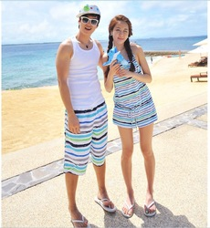 FREE SHIPPING beach bikini Jeju island of lovers female split pants(China (Mainland))