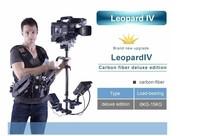 WONDLAN Steadicam Leopard 4 Video Camera Steadicam 6-15KG Carbon fiber Steadycam Vest Arm LCD monitor w/ Case Free shipping