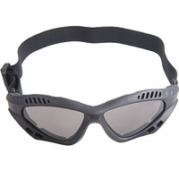 Free Shipping 3pcs/Lot Tactical Goggles Outdoor Safety Glasses Eye Protection With Elastic Headband - Black Frame & Dark Lens