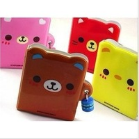 8PCSFreeshipping! NEW sweet bear with lock Notebook / Diary / fashion Gift / notepads / Wholesale