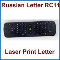 Wholesale - 5pcs/lot Measy RC11 Air Mouse Russian Keyboard 2.4GHz Wireless Gyroscope Handheld Remote Control for TV BOX