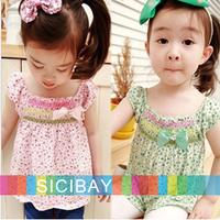 Girl Garden Dress Free Shipping Little Girl Cute Dress Flower Dress Kids Summer Wear K0514