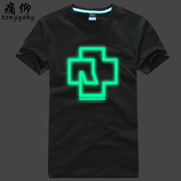 Luminous 100% cotton short-sleeve t-shirt plus size plus size rammstein